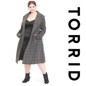 NWT Torrid Outlander Mackenzie Tartan Plaid Coat
